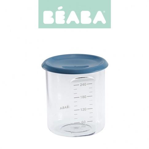 Fotografia, na której jest Beaba Słoiczek z hermetycznym zamknięciem 240 ml blue