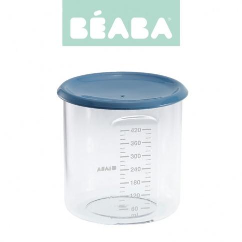Fotografia, na której jest Beaba Słoiczek z hermetycznym zamknięciem 420 ml blue
