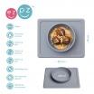 Fotografia, na której jest EZPZ Silikonowa miseczka z podkładką 2w1 Mini Bowl szara