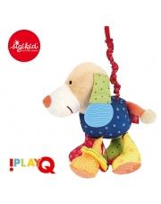 SIGIKID Przytulanka aktywizująca Pies z gryzakiem, wibracją i szeleszczącą folią 6m+ PlayQ