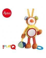 SIGIKID Przytulanka aktywizująca Miś z gryzakiem, lusterkiem, wibracją i szeleszczącą folią 6m+ PlayQ