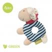 Fotografia, na której jest SIGIKID Grzechotka przytulanka Owieczka kolekcja ekologiczna Green