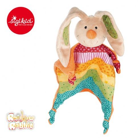 Fotografia, na której jest SIGIKID Przytulaczek - komforter Królik Rainbow