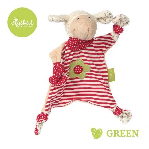Fotografia, na której jest SIGIKID Przytulaczek – komforter Owieczka kolekcja ekologiczna Green