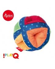 SIGIKID Miękka kolorowa piłka z otworami i grzechotką 3m+ PlayQ