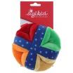 Fotografia, na której jest SIGIKID Miękka kolorowa piłka z otworami i grzechotką 3m+ PlayQ