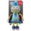 Fotografia, na której jest SIGIKID Przytulanka aktywizująca Robot z grzechotką, gryzakiem i szeleszczącą folią Papa&Me