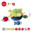 Fotografia, na której jest SIGIKID Aktywizująca miękka piłka z wypustkami Morskie zwierzątka z grzechotką, piszczałką i szeleszczącą folią 3m+ PlayQ