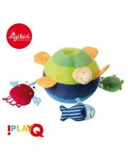 SIGIKID Aktywizująca miękka piłka z wypustkami Morskie zwierzątka z grzechotką, piszczałką i szeleszczącą folią 3m+ PlayQ