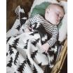 Fotografia, na której jest Kocyk dziecięcy GRAN tkany szary - Fine Little Day