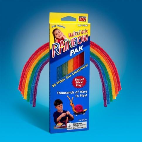 Fotografia, na której jest Rainbow Pak - Wikki Stix