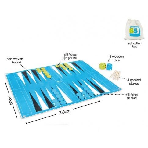 Fotografia, na której jest Backgammnon/Tryktrak XL - Buiten Speel