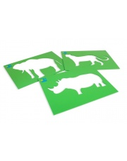 Szablony zwierząt+kreda - Buiten Speel