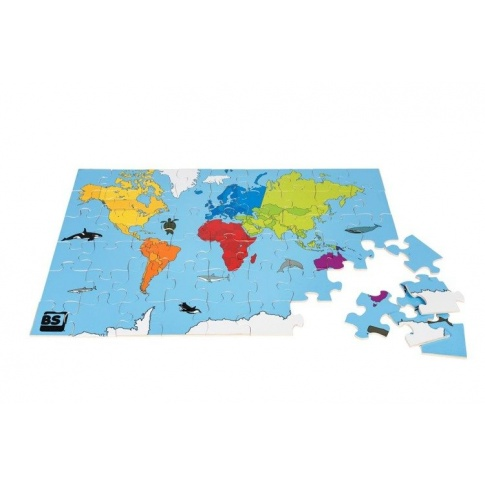 Fotografia, na której jest Puzzle Mapa Świata - Buiten Speel