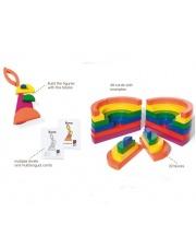 Układanka logiczna drewniana z kolorowymi kartami - Buiten Speel