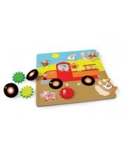 Puzzle z uchwytem Samochód Farma - Scratch