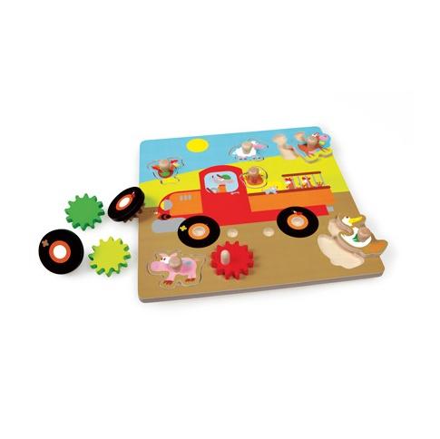 Fotografia, na której jest Puzzle z uchwytem Samochód Farma - Scratch