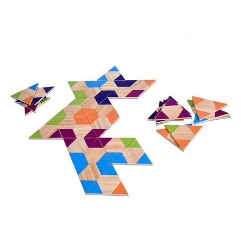 Fotografia, na której jest Domino drewniane  Trójkąty  - Buiten Speel