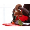 Fotografia, na której jest SIGIKID Miękka zawieszka do fotelika lub wózka Wiewiórka z grzechotką i szeleszczącą folią