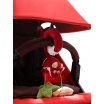 Fotografia, na której jest SIGIKID Miękka zawieszka do fotelika lub wózka Lis z grzechotką i szeleszczącą folią