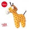 Fotografia, na której jest SIGIKID Miękka mini – grzechotka Żyrafa Red Stars