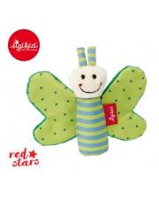 SIGIKID Miękka mini – przytulanka Zielony motylek z szeleszczącymi skrzydełkami Red Stars