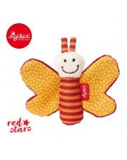 SIGIKID Miękka mini – przytulanka Pomarańczowy motylek z szeleszczącymi skrzydełkami Red Stars