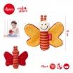 Fotografia, na której jest SIGIKID Miękka mini – przytulanka Pomarańczowy motylek z szeleszczącymi skrzydełkami Red Stars