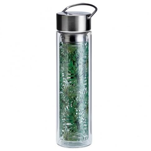 Fotografia, na której jest Butelka szklana na herbatę z pokrowcem - 350 ml - Dżungla Eigenart