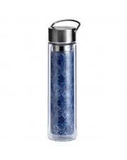 Butelka szklana na herbatę z pokrowcem - 350 ml - Szelest Indigo Eigenart