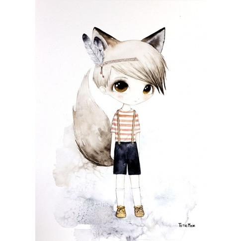 Fotografia, na której jest Plakat Little Friends - To The Moon - LITTLE TONY