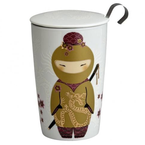 Fotografia, na której jest Kubek do herbaty z zaparzaczką - 350 ml - Ninja złoty Eigenart