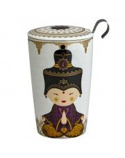 Kubek do herbaty z zaparzaczką - 350 ml - Shiva fioletowy Eigenart
