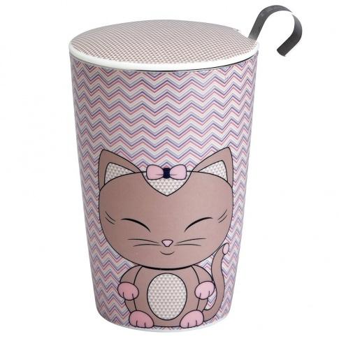 Fotografia, na której jest Kubek do herbaty z zaparzaczką - 350 ml - Kitty Eigenart