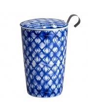 Kubek do herbaty z zaparzaczką - 350 ml - Mozaika indigo Eigenart