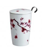 Kubek do herbaty z zaparzaczką - 350 ml - Kwiat Wiśni Eigenart