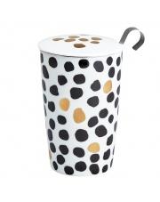 Kubek do herbaty z zaparzaczką - 350 ml - Złoto centki Eigenart