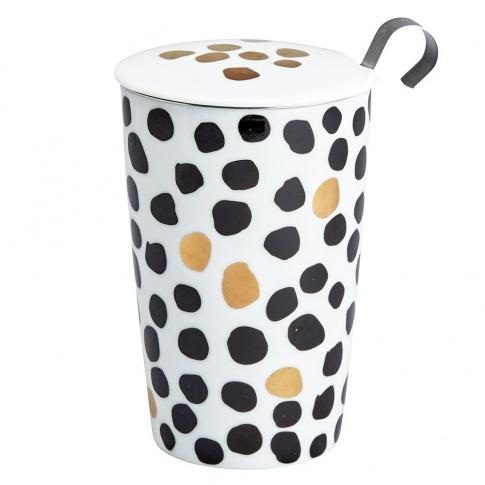 Fotografia, na której jest Kubek do herbaty z zaparzaczką - 350 ml - Złoto centki Eigenart