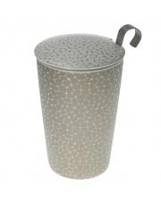 Kubek do herbaty z zaparzaczką - 350 ml - Ziarna biało-złoty Eigenart