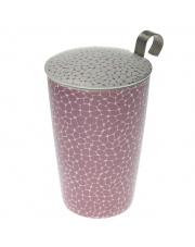 Kubek do herbaty z zaparzaczką - 350 ml - Ziarna biało-liliowy Eigenart