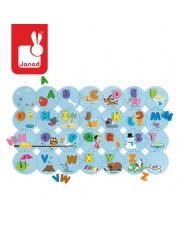 Puzzle Uczę się alfabetu wersja angielska, Janod