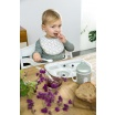 Fotografia, na której jest Lassig Śliniak bawełniany wodoodporny 0m+ Little Spookies Olive