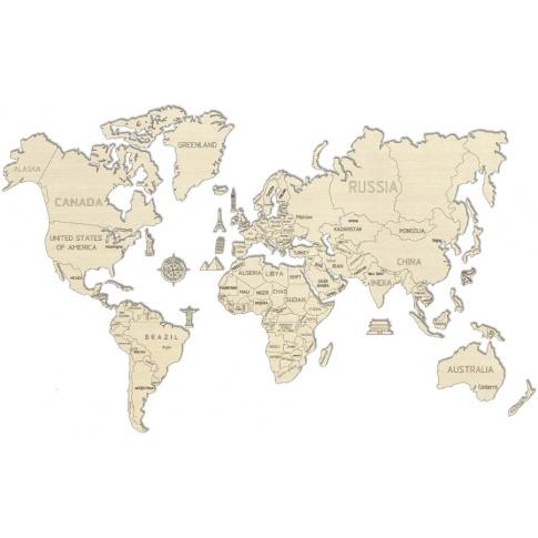 Fotografia, na której jest Mapa Świata - Puzzle Wooden.City