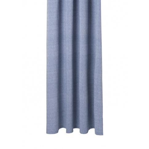 Fotografia, na której jest Zasłona prysznicowa CHAMBRAY niebieska - ferm LIVING