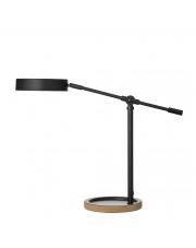 Lampa czarna z drewnianą podstawą - Bloomingville