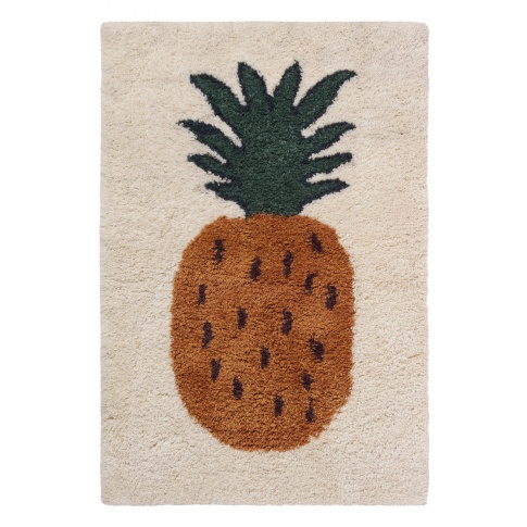 Fotografia, na której jest Dywan wełniany FRUITICANA ananas - ferm LIVING