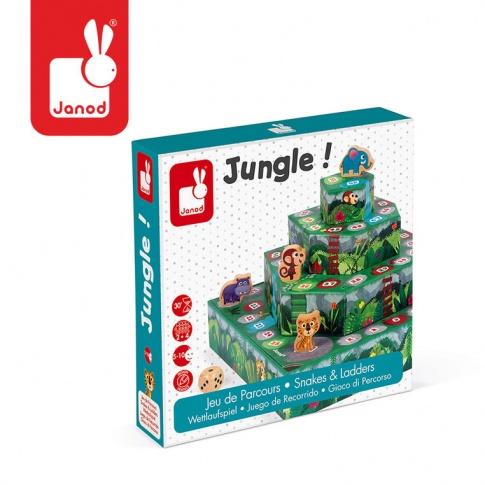 Fotografia, na której jest Gra wyścig Dżungla, Janod