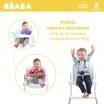 Fotografia, na której jest Beaba Krzesełko do karmienia Up&Down grey/white