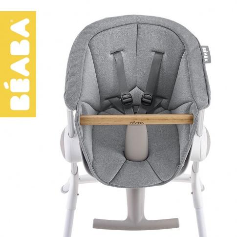 Fotografia, na której jest Beaba Miękki wkład do Krzesełka do karmienia Up&Down grey
