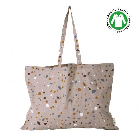 Fotografia, na której jest Torba z bawełny organicznej / Tote Bag TERRAZZO XL - ferm LIVING